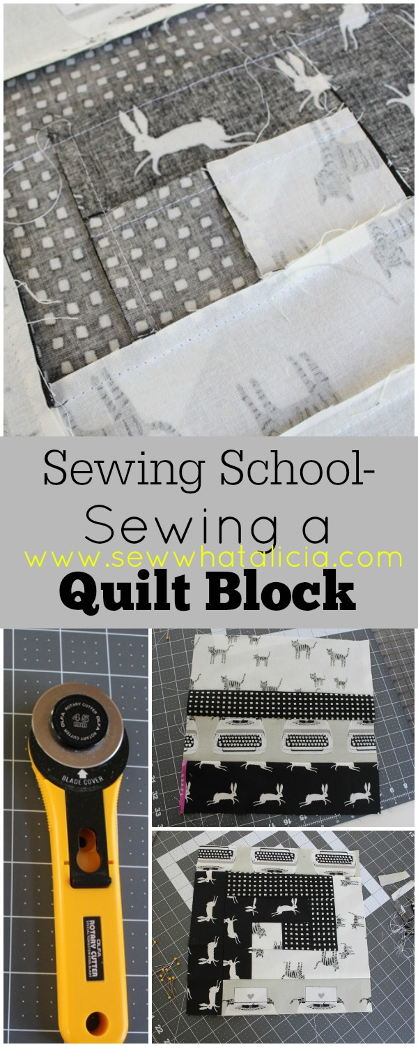 Sewing School - Sewing a Quilt Block - www.sewwhatalicia.com