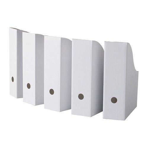 white magazine file boxes