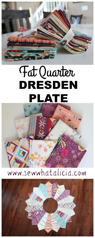 Fat Quarter Dresden Plate | www.sewwhatalicia.com