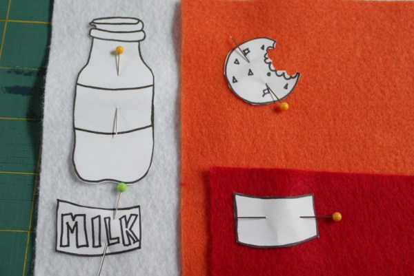 Milk and Cookies Appliqué Reusable Snack Bag | www.sewwhatalicia.com