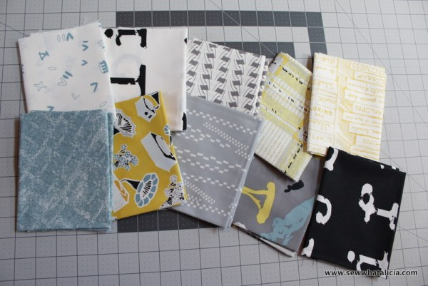 Subway Tile Inspired Quilt Top (using fat quarters) | www.sewwhatalicia.com