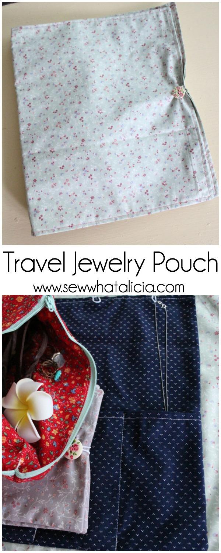 Travel Jewelry Pouch   www.sewwhatalicia.com