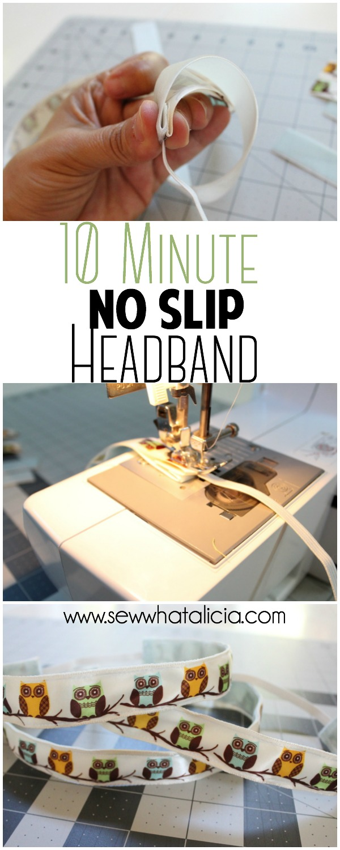 10 Minute No Slip Headband | www.sewwhatalicia.com