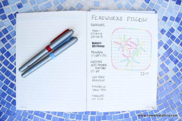 Planning Craft Projects - Bullet Journal Style | www.sewwhatalicia.com