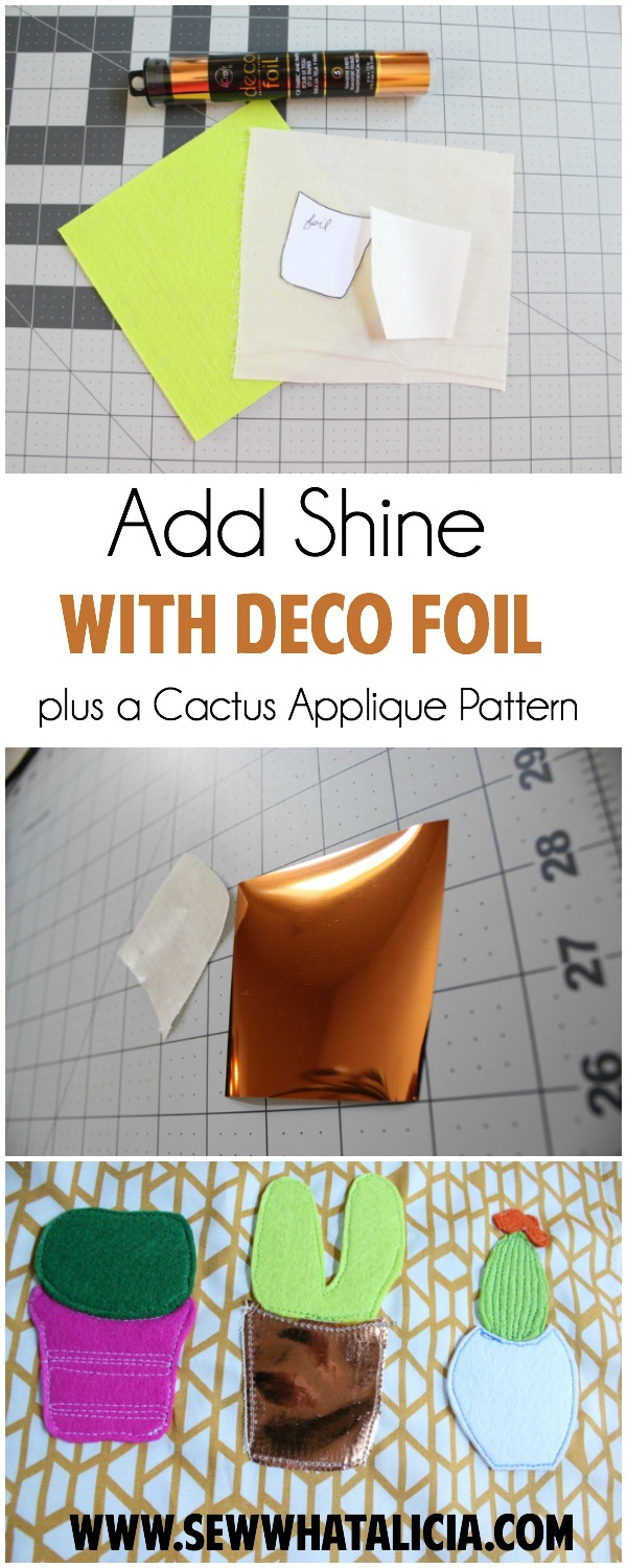 Tips for Adding Shine with Deco Foil   www.sewwhatalicia.com
