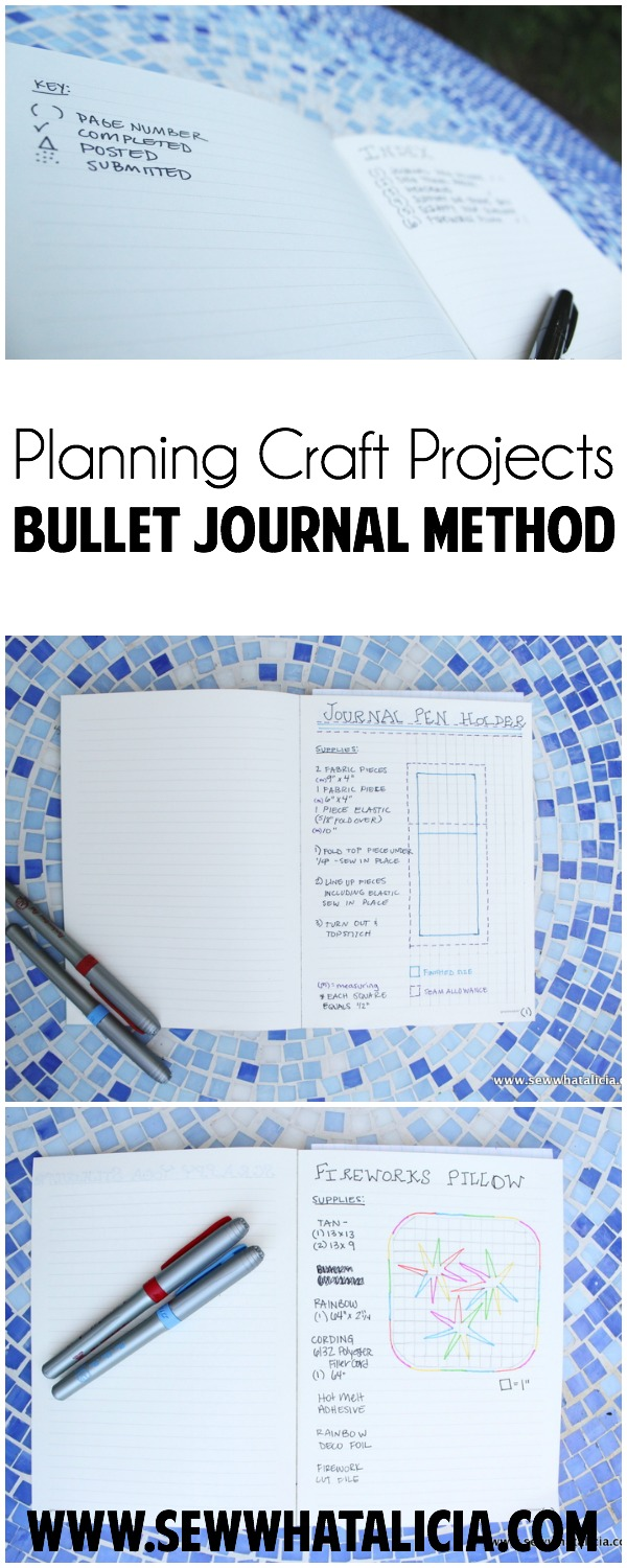Planning Craft Projects - Bullet Journal Style   www.sewwhatalicia.com
