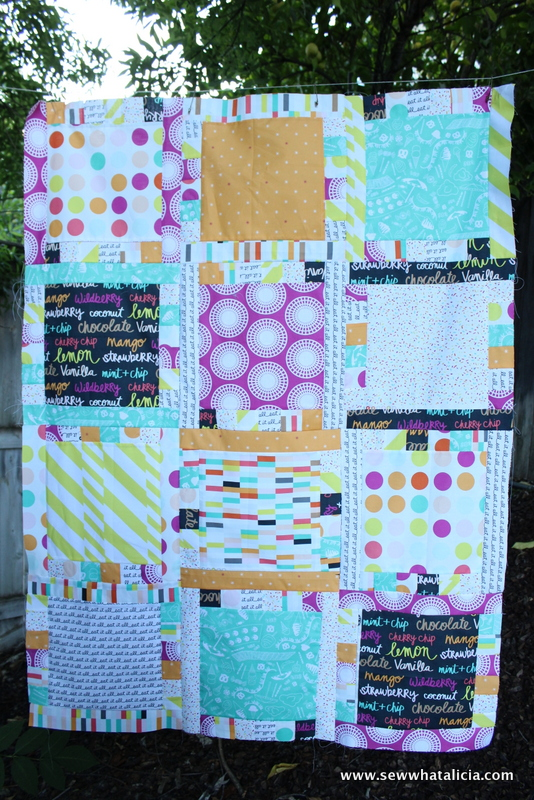 Flavor of Summer Quilt Top   www.sewwhatalicia.com