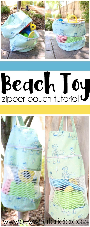 Beach Toy Zipper Pouch | www.sewwhatalicia.com