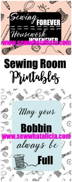 Sewing Room Printables