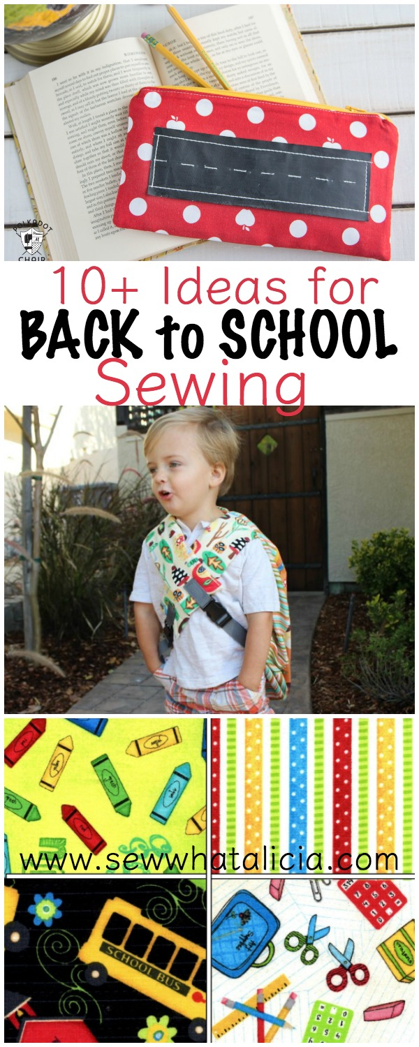 10+ Back to School Sewing Ideas | www.sewwhatalicia.com