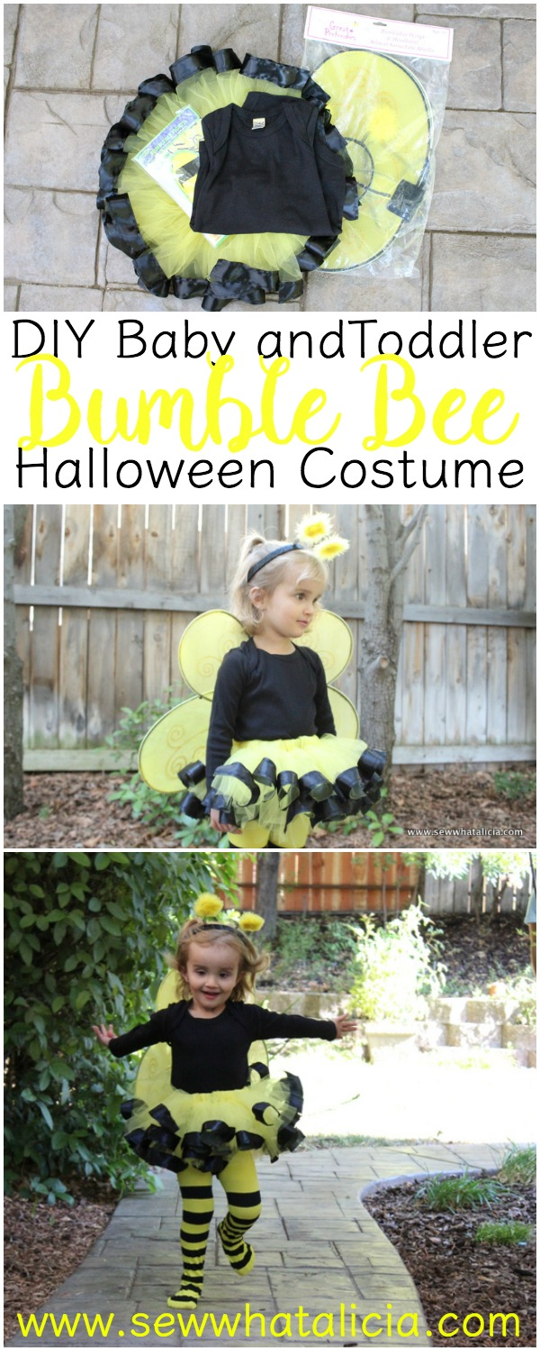 Diy Bumble Bee Costume For Babies And Toddlers Sew What Alicia