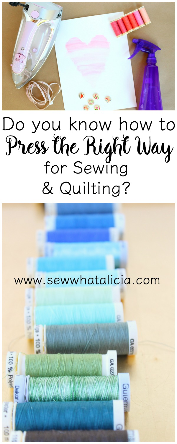10+ Tips on How to Press the Right Way when Sewing | www.sewwhatalicia.com