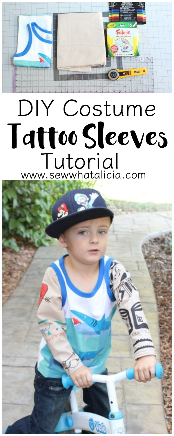 Tattoos for Boys - Costume Sleeve Tutorial | www.sewwhatalicia.com