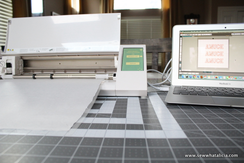 How to Use a Freezer Paper Stencil on Fabric: If you want to customize all your stuff with a stencil but are kind of hesitant about using it on fabric then this is for you! Click through for tips and tricks to creating and using a freezer paper stencil on fabric!   www.sewwhatalicia.com