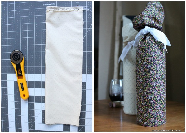 Slouchy Fabric Wine Gift Bag Tutorial - Sew What, Alicia?