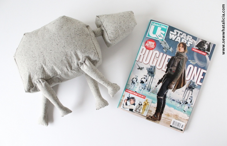 How to Sew a Stuffed Star Wars Toy: This adorable AT ACT from the new Rogue One is the perfect toy for the kids (and adults!!) Click through for the full tutorial and pattern to make your own. | www.sewwhatalicia.com