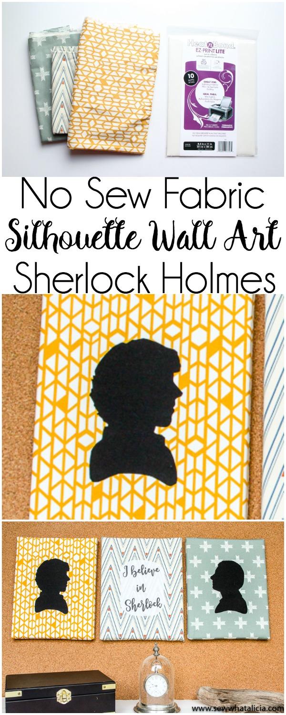 No Sew Silhouette Wall Art - Sherlock Holmes - Sew What, Alicia?