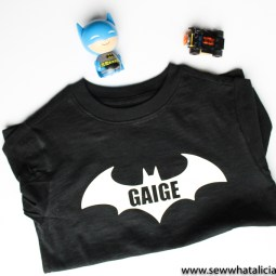 Heat Transfer Vinyl Batman Shirt Tutorial