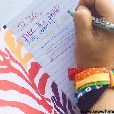 Easy No Sew Fabric Scrap Rainbow Bracelet