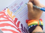 Easy No Sew Fabric Scrap Rainbow Bracelet