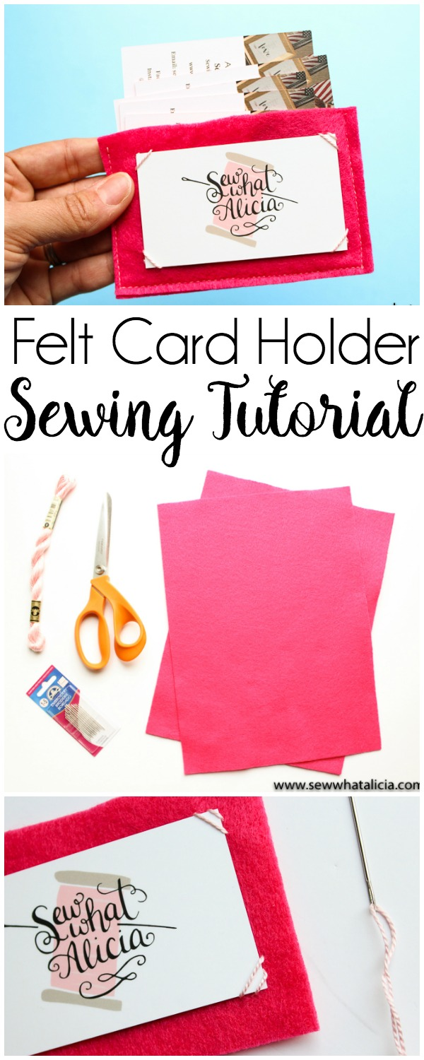 Felt Business Card Holder Tutorial - Sew What, Alicia?