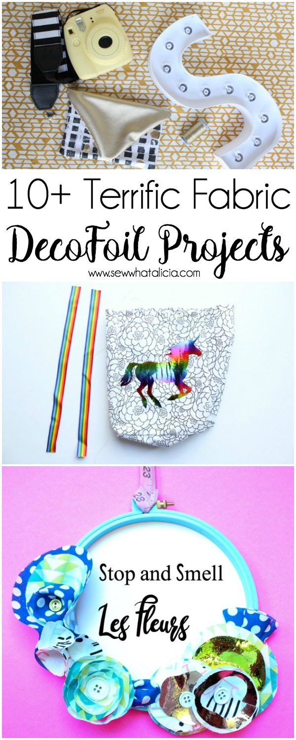 10+ Terrific DecoFoil Projects: If you have never worked with DecoFoil you must check out these projects! If you have then you know how awesome it is and you must check out these projects! Click through for a full list of projects! | www.sewwhatalicia.com