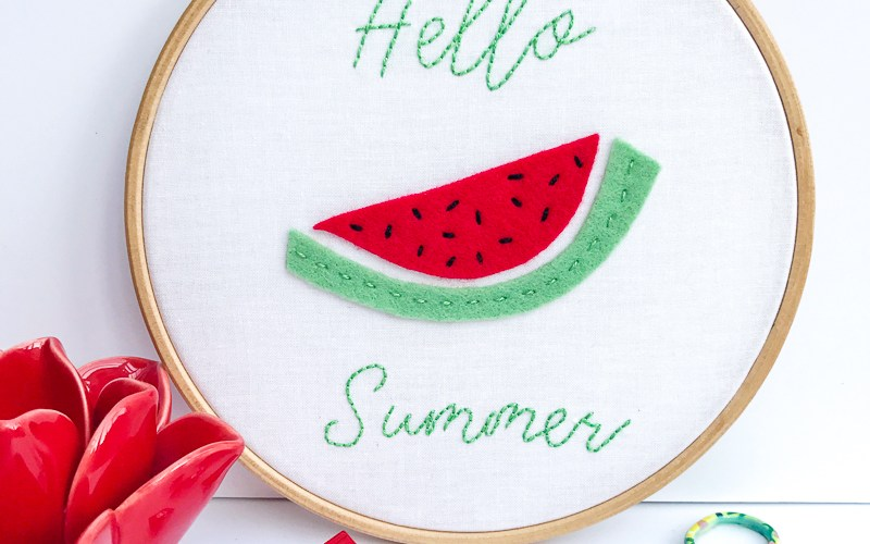 Hello Summer Sweet Embroidery Pattern and Tutorial