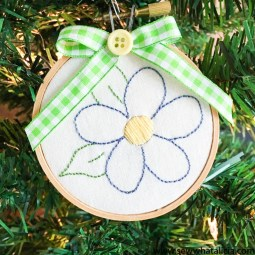 Easy Embroidery Flower Tutorial
