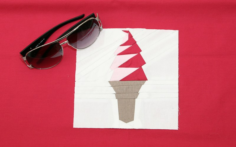 Ice Cream Cone Paper Piecing Tutorial