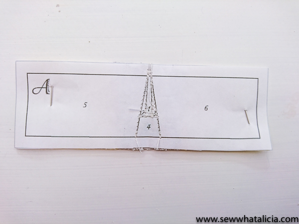 Eiffel Tower Paper Piecing Tutorial: This foundational paper piecing sewing tutorial is a great step by step walk through. This is great for beginners and newbies. Click through for the full tutorial.   www.sewwhatalicia.com