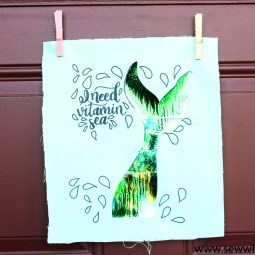 How to Use Coloring Pages on Fabric (with Foil!)