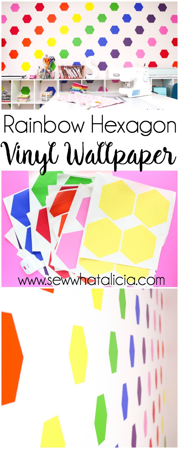 how to make your own wallpaper using vinyl sew what alicia. Black Bedroom Furniture Sets. Home Design Ideas