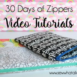 30 Days of Zippers - Video Tutorials (part 4): Day 23 through 30. Click through for full video tutorials to master sewing the zipper. | www.sewwhatalicia.com