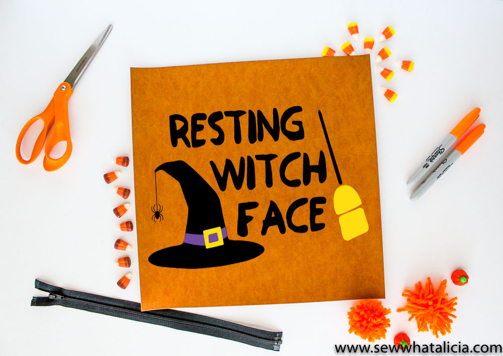 Halloween Cut File Resting Witch Face Sew What Alicia