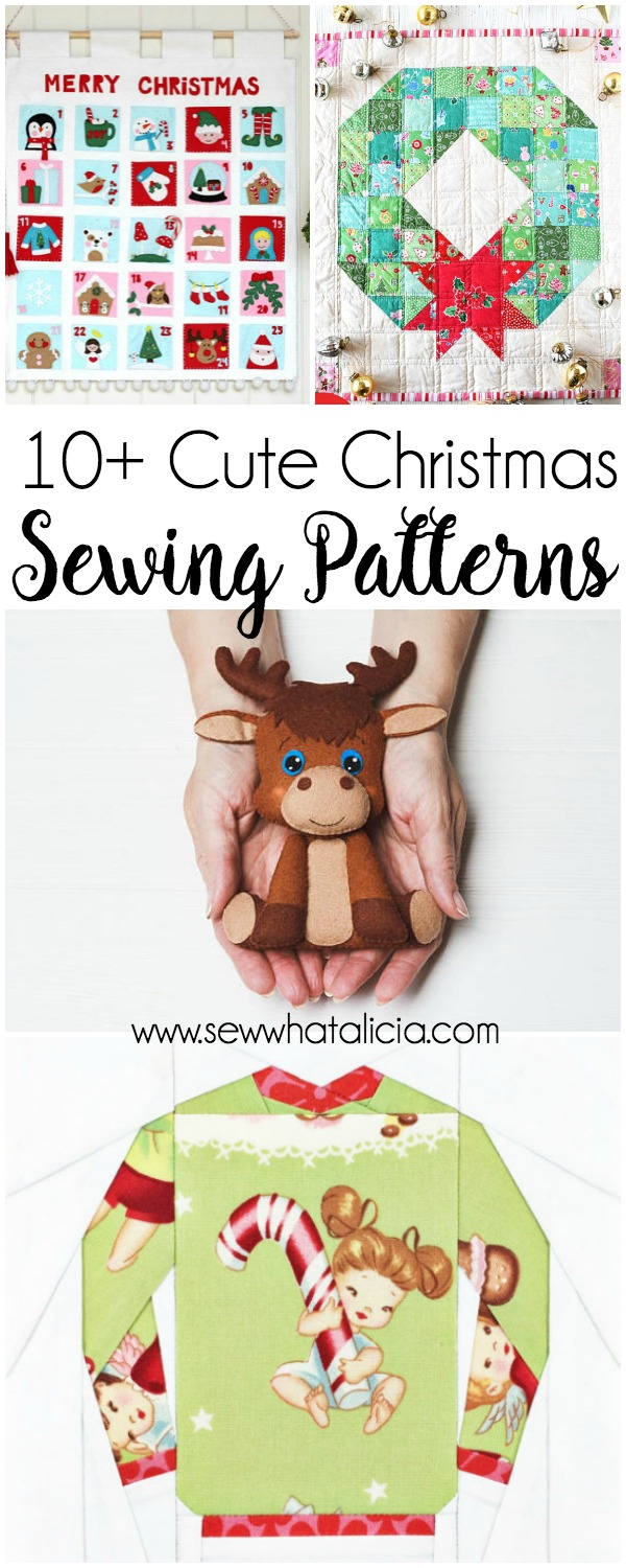 10 cute christmas sewing patterns sew what alicia 10 cute christmas sewing patterns if you love to sew and you love the jeuxipadfo Images