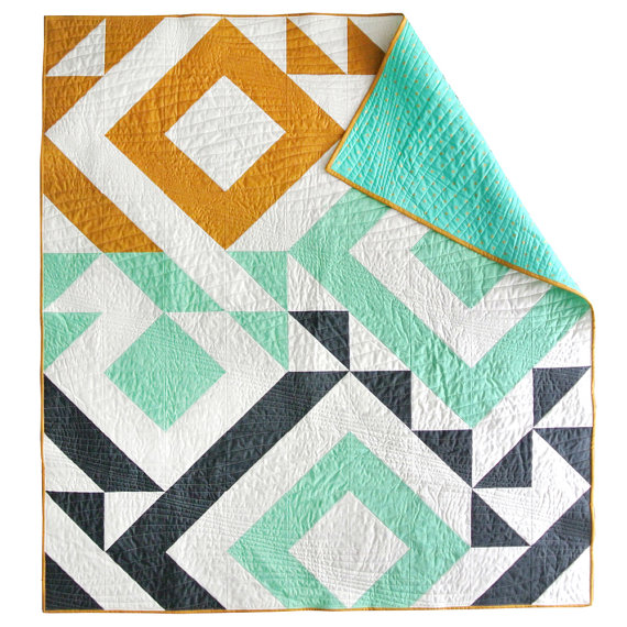 pictured colorful modern quilt