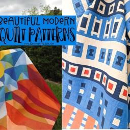 10+ Beautiful Modern Quilt Patterns