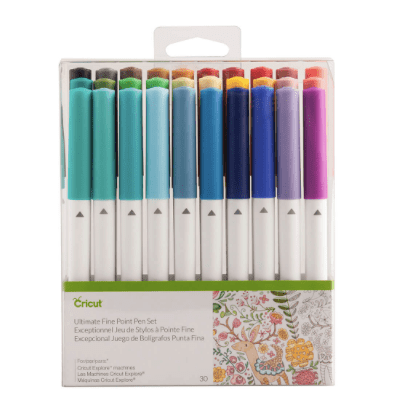 10+ Must Have Cricut Accessories: Pen Set. These accessories are perfect for pairing with your Cricut cutting machine. Click through for a full list of must have accessories. | www.sewwhatalicia.com