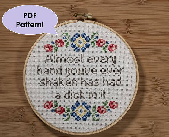 Inappropriate Cross Stitch Patterns That Are Fabulous Sew What
