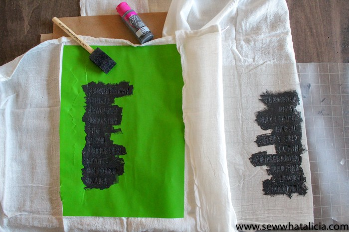 How to Make a Stencil with a Cricut: This is a great tutorial for creating stencils to add paint to your fabric or wood projects. Click through for a video tutorial for creating a stencil in Cricut Design Space. | www.sewwhatalicia.com