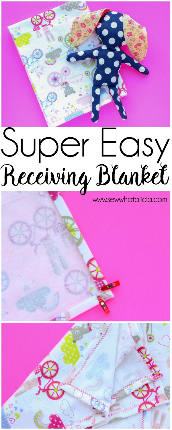 how to make a baby blanket sew what alicia. Black Bedroom Furniture Sets. Home Design Ideas