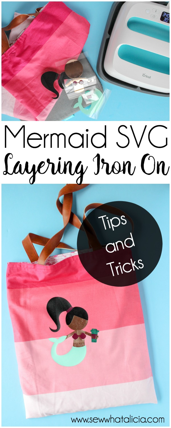 Mermaid SVG File: This file is part of an awesome mermaid cut file bundle. Click through for iron on tips and tricks and ideas for layering iron on. | www.sewwhatalicia.com