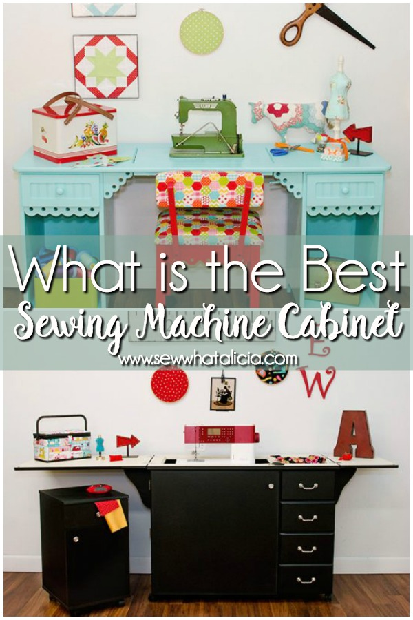 Best Sewing Machine Cabinet: If you are looking for a sewing machine cabinet then you HAVE to reach this post. It breaks down a ton of sewing cabinets to help you find which is the best for your needs. Click through for the full list. | www.sewwhatalicia.com
