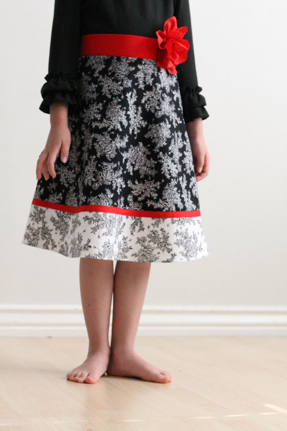 Skirt Sewing Patterns for Women and Girls: A Line Girl's Skirt   www.sewwhatalicia.com