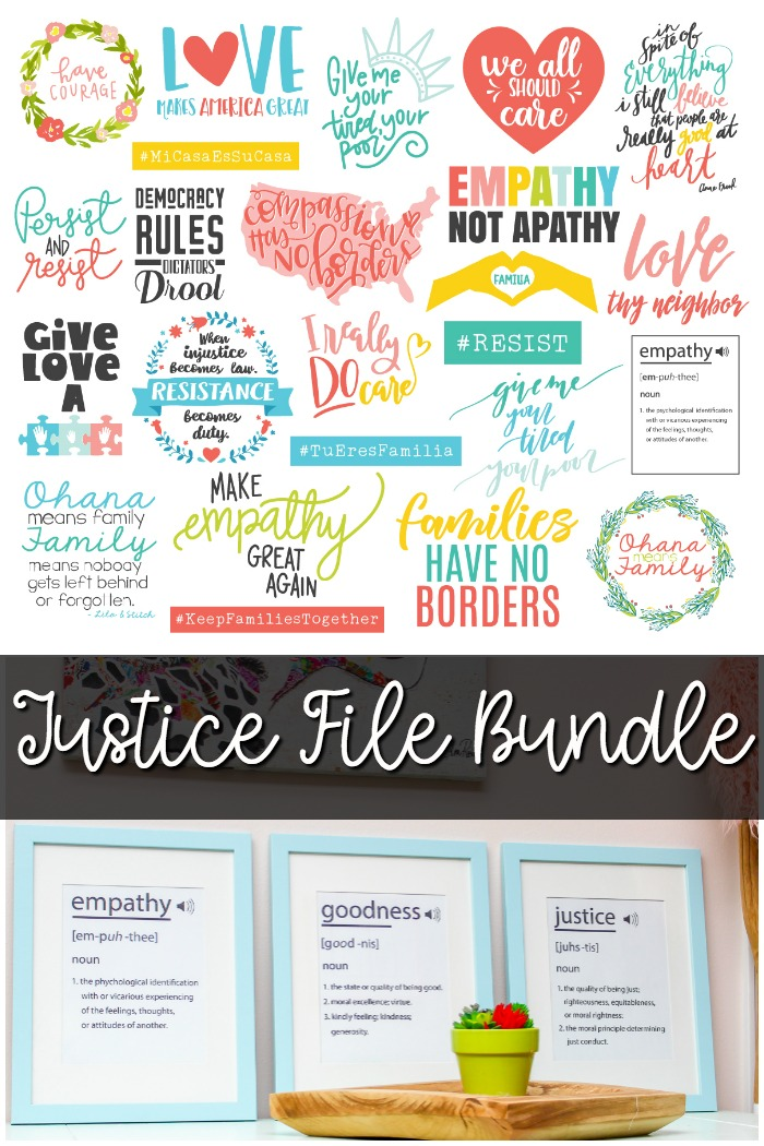 Justice Artwork Bundle: Empathy Dictionary Definition Printables plus tons more beautiful justice artwork, all proceeds go to charities supporting separated families and children. | www.sewwhatalicia.com
