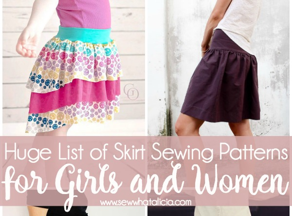 Skirt Sewing Patterns for Women and Girls