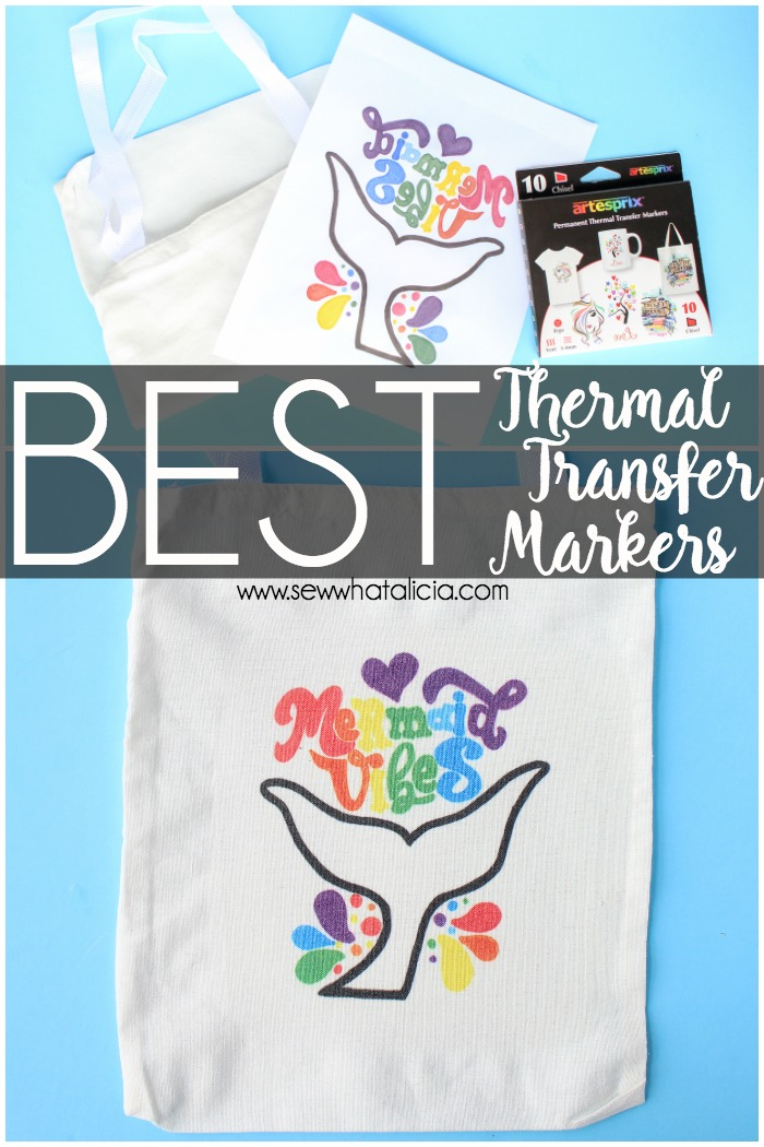 Best Fabric Markers Thermal Transfer Fabric Marker Review and Tutorial: These thermal transfer markers are amazing! Click through for a full review and a quick project tutorial. | www.sewwhatalicia.com