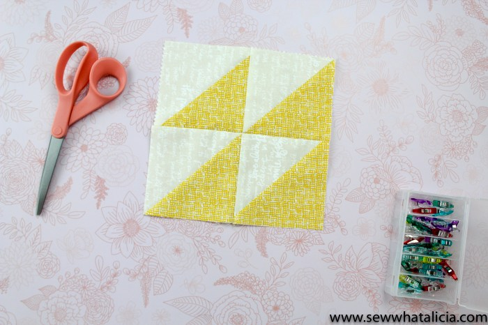 Half Square Triangles - 6 Easy Quilt Blocks and Patterns: This tutorial will teach you how to sew a half square triangle. It also includes 6 fun quilt designs using the half square triangle. Click through for the full tutorial and patterns. | www.sewwhatalicia.com