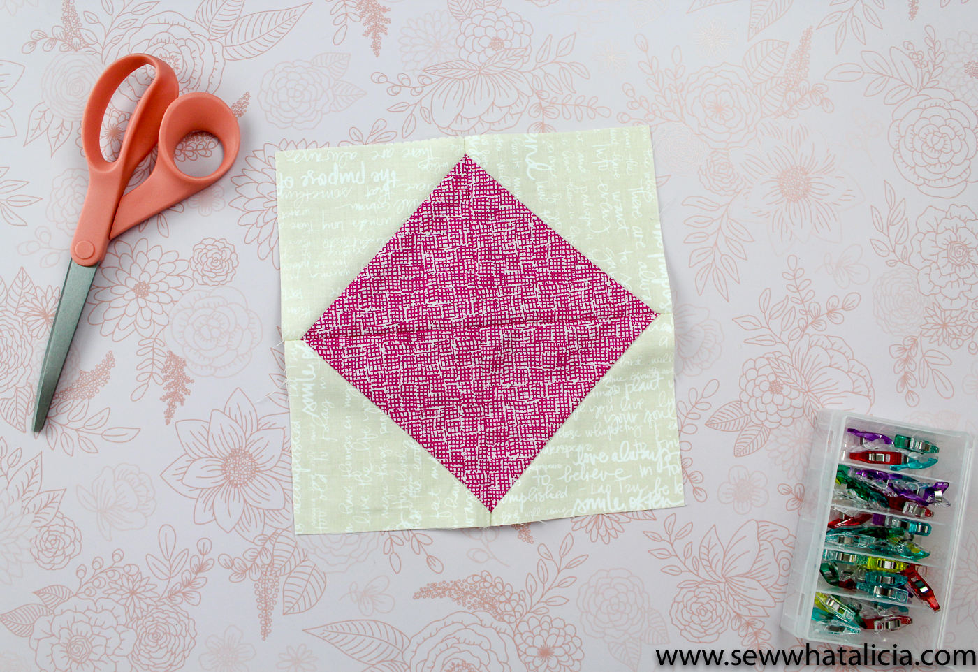 Half Square Triangles 6 Easy Quilt Blocks Sew What Alicia