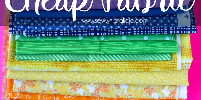 Discount Fabric - Tips and Tricks to Save Money on Fabric: Fabric can be so expensive. Here are all my tips and tricks for getting the best price on fabric!! Click through for all my tips. | www.sewwhatalicia.com